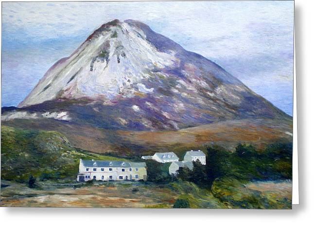 Mount Errigal Co. Donegal Ireland 1997 Greeting Card by Enver Larney