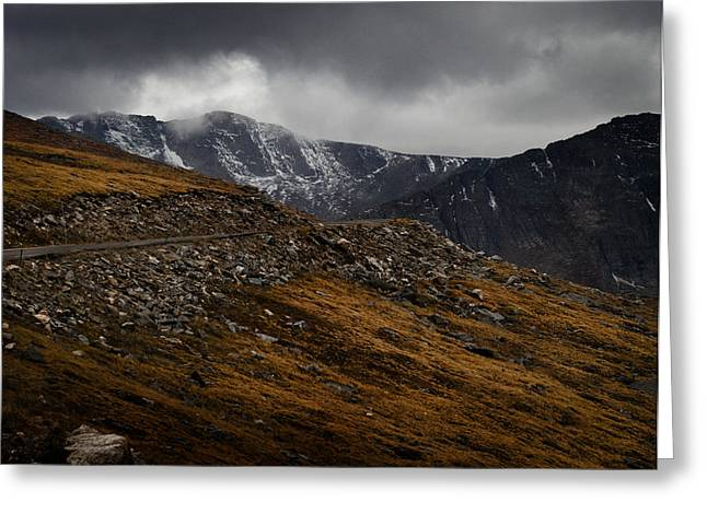 Mount Evans Greeting Card by Jim Painter