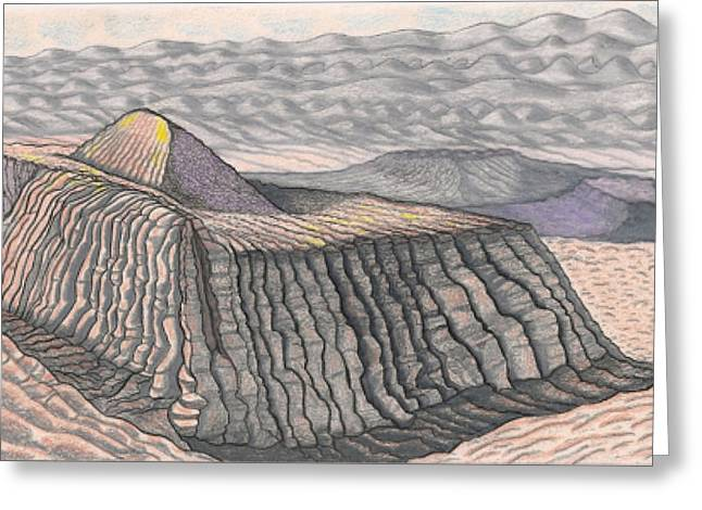 Mount Methaluna And The Hogarth Plateau On The Plains Of Bumpo Greeting Card by Al Goldfarb