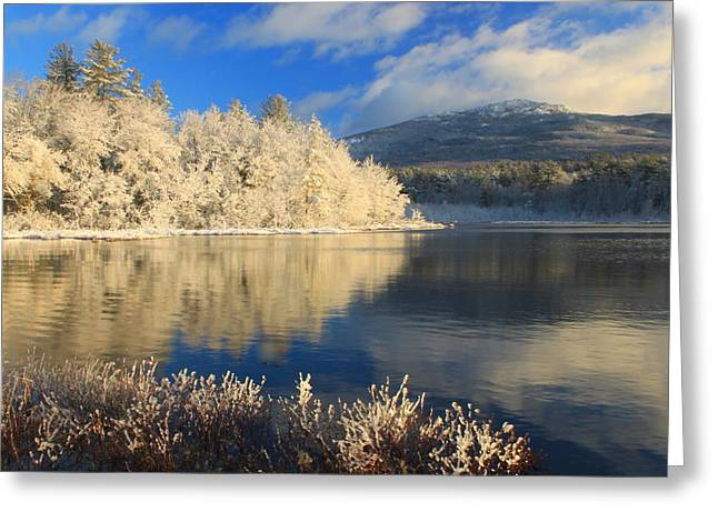 Mount Monadnock Early Winter Snow Greeting Card