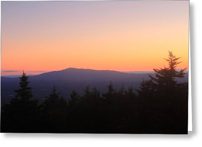 Mount Monadnock From Pack Monadnock At Dusk Greeting Card