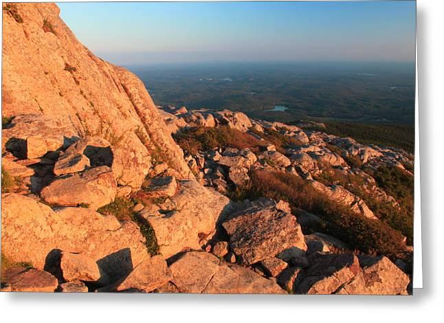 Mount Monadnock Summit Evening Light Greeting Card