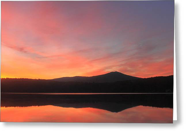 Mount Monadnock Sunrise From Stone Pond Greeting Card