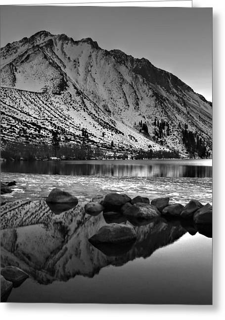 Mount Morrison And Convict Lake Monochrome Greeting Card by Scott McGuire