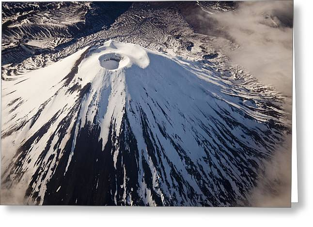 Mount Ngauruhoe Tongariro Np New Zealand Greeting Card by Colin Monteath