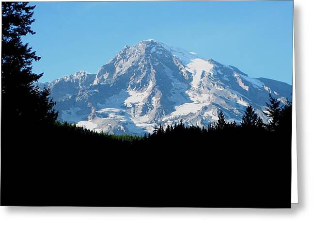 Mount Rainier 11 Greeting Card by Kathy Long
