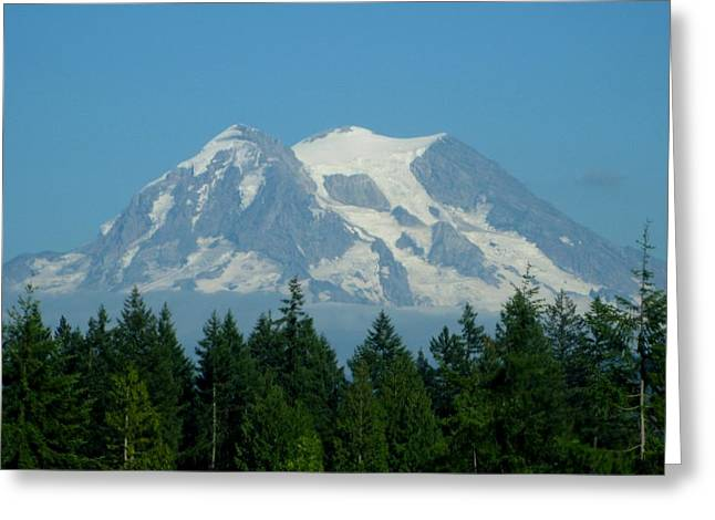 Mount Rainier 5 Greeting Card by Kathy Long