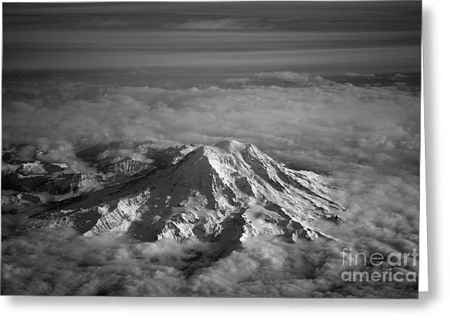 Mount Rainier Greeting Card by Ei Katsumata