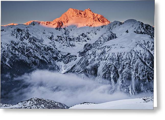 Mount Rolleston In The Dawn Light Greeting Card by Colin Monteath