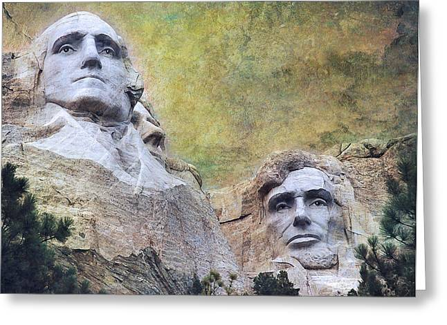 Mount Rushmore - My Impression Greeting Card by Jeff Burgess