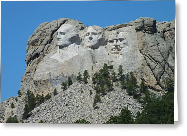 Mount Rushmore From A Different View Greeting Card by Joseph Hendrix