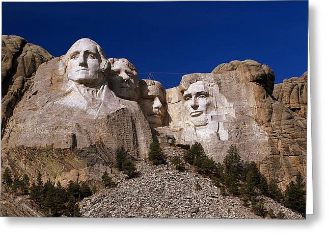 Greeting Card featuring the photograph Mount Rushmore National Monument by Paul Svensen