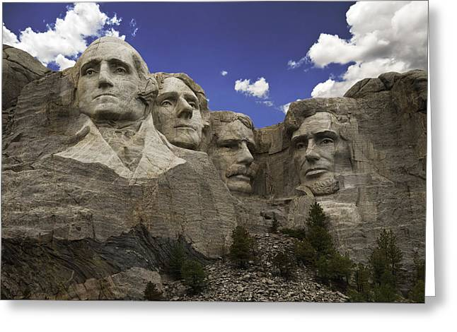 Mount Rushmore  Greeting Card by Paul Plaine