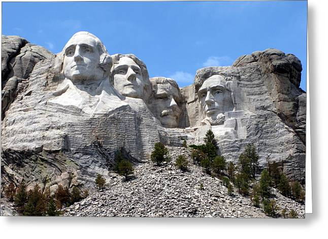 Mount Rushmore Usa Greeting Card by Olivier Le Queinec