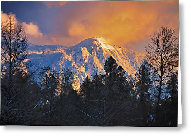 Mount Si Winter Wonder Greeting Card by Scott Massey