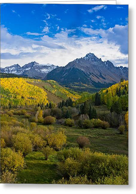 Mount Sneffels Under Autumn Sky Greeting Card