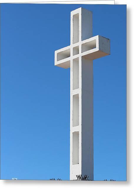 Mount Soledad Cross La Jolla Greeting Card by Russ Harris