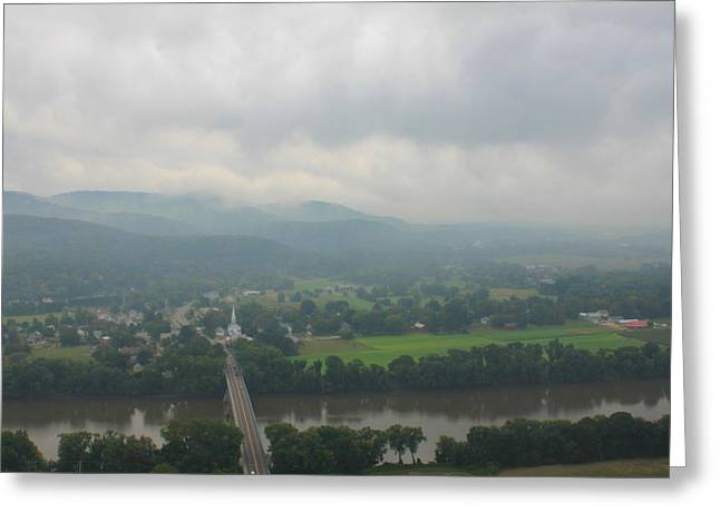 Mount Sugarloaf Storm Sky Greeting Card by John Burk