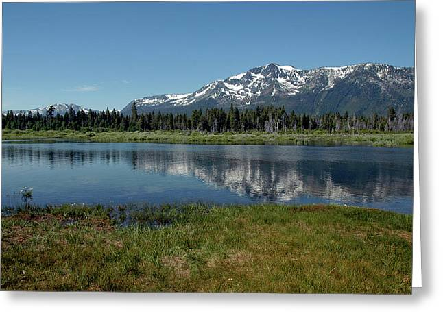 Mount Tallac View Of The Cross Greeting Card by LeeAnn McLaneGoetz McLaneGoetzStudioLLCcom