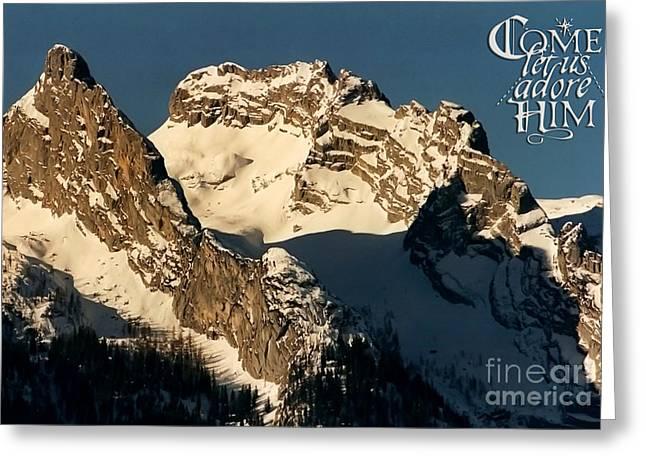 Mountain Christmas Austria Europe Greeting Card by Sabine Jacobs