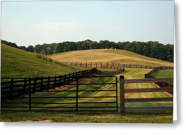 Mountain Farmland Greeting Card