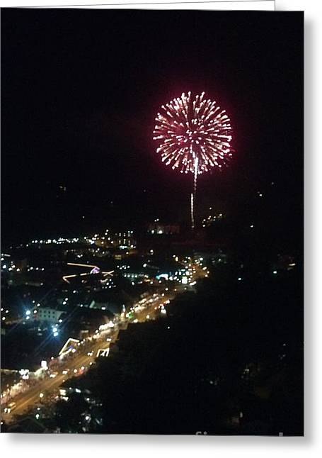 Greeting Card featuring the photograph Mountain Fireworks by Janice Spivey