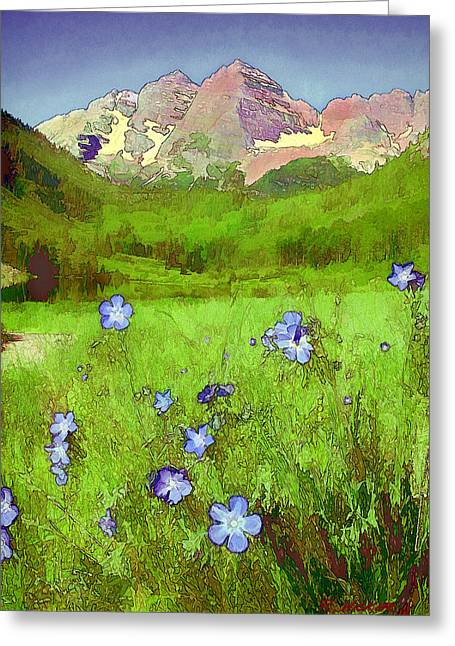 Mountain Flowersketch Greeting Card