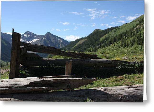 Mountain Ghost Town Greeting Card