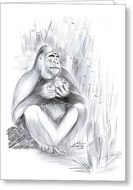 Mountain Gorilla 02 Greeting Card