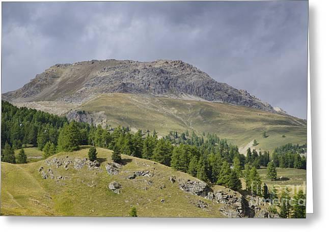 Mountain In St Moritz Greeting Card