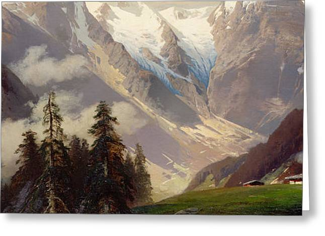 Mountain Landscape With The Grossglockner Greeting Card by Nicolai Astudin