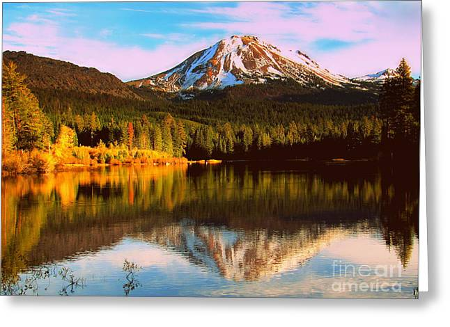 Greeting Card featuring the photograph Mountain Lassen by Irina Hays