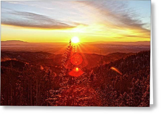 Mountain Light Greeting Card