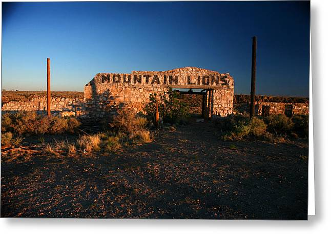 Greeting Card featuring the photograph Mountain Lions At Two Guns by Lon Casler Bixby