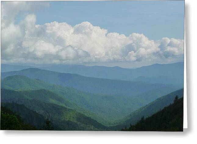 Mountain Magnificence Greeting Card by Michael Carrothers