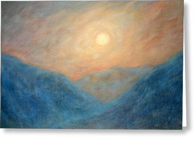Mountain Mist Greeting Card by David Wiles