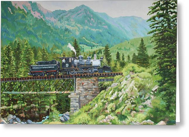 Mountain Railroad Greeting Card