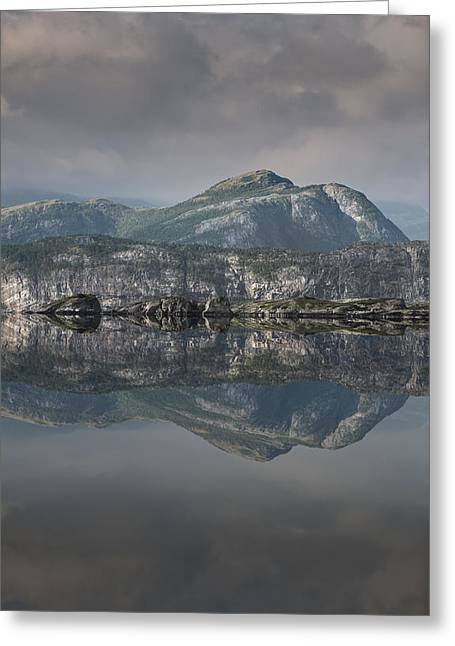Mountain Reflection Greeting Card by Andy Astbury
