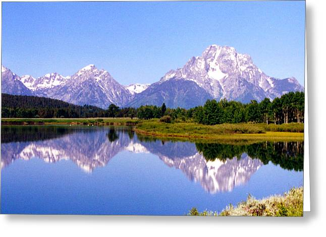 Mountain Reflections Greeting Card by Carolyn Ardolino