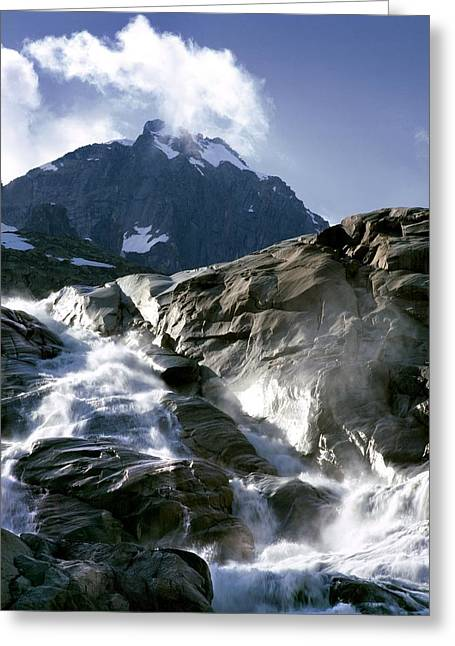 Mountain Stream, Swiss Alps Greeting Card by Martin Bond