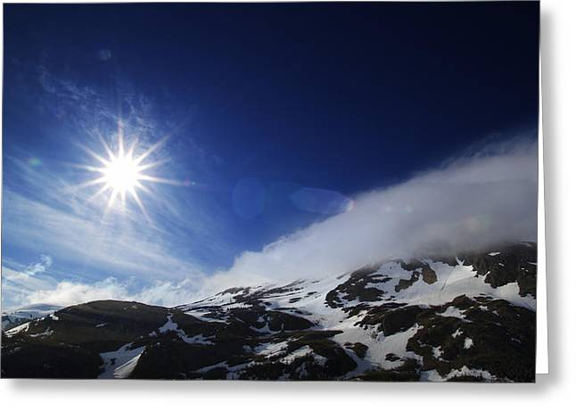 Mountain Sun Greeting Card