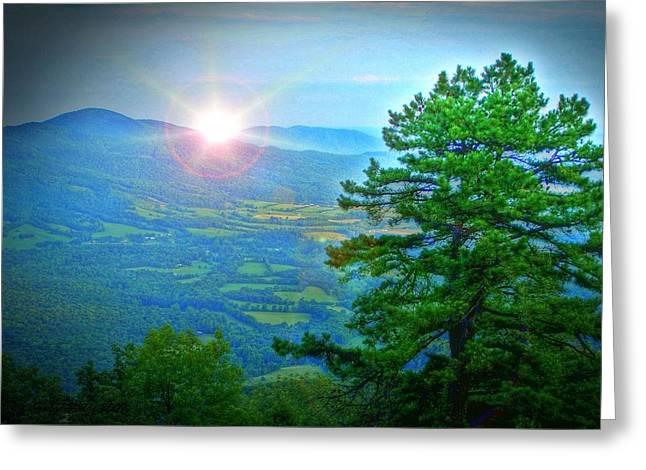 Mountain Sunrise Greeting Card by Dan Stone