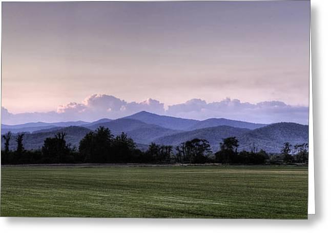 Mountain Sunset - North Carolina Landscape Greeting Card