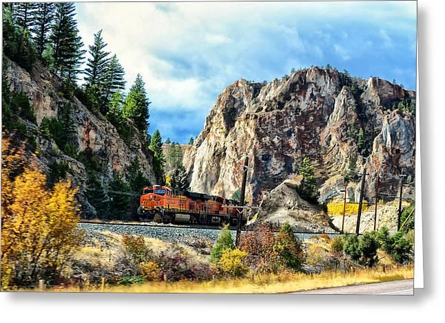 Greeting Card featuring the photograph Mountain Train by Kelly Reber