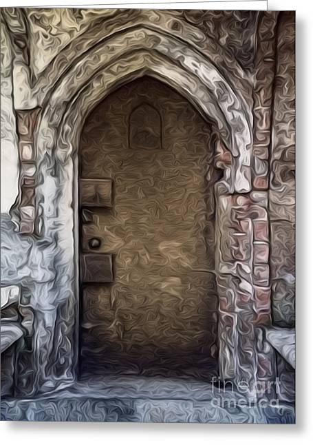 Mountain View Cemetery Tomb - Number 1 Greeting Card by Gregory Dyer