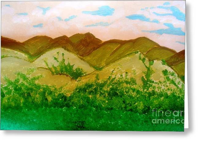 Mountain View Of Ecuador Greeting Card