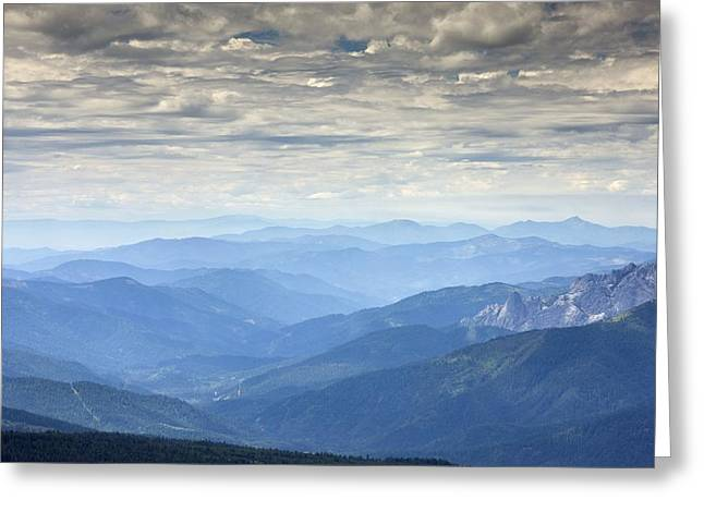 Mountain View, Usa Greeting Card by Bob Gibbons