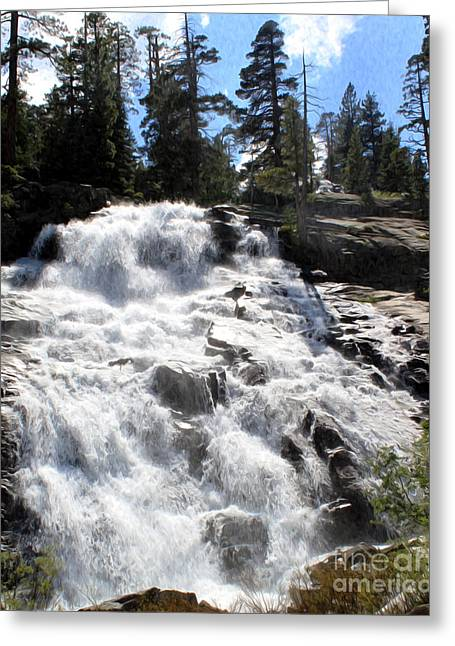 Greeting Card featuring the photograph Mountain Waterfall  by Anne Raczkowski