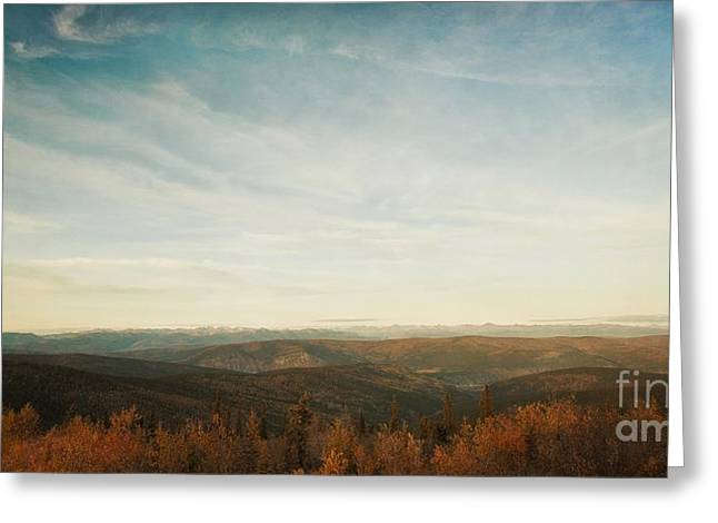 Mountains As Far As The Eye Can See Greeting Card by Priska Wettstein