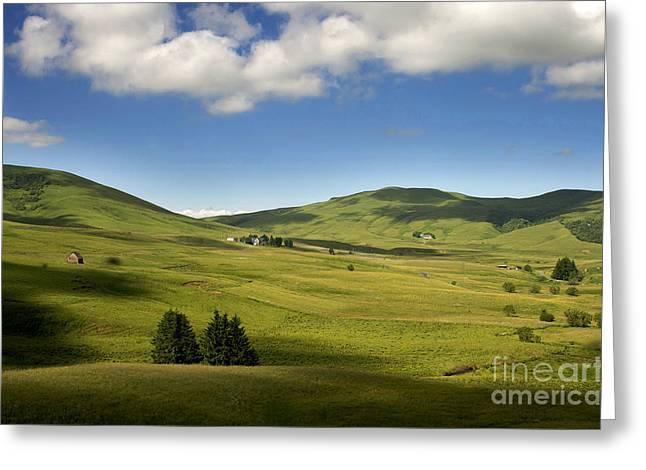 Mountains Of Cezallier. Auvergne. France. Europe Greeting Card by Bernard Jaubert
